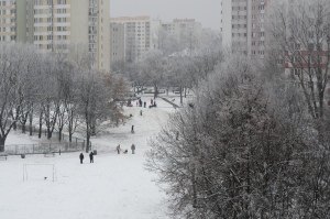 Winter comes to Warsaw