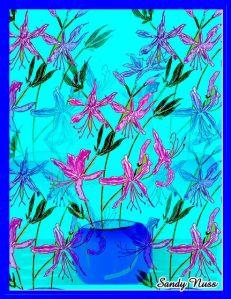 Wild Azalea # 1 Pen and Ink by Sandy Nuss